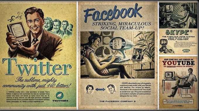 Papel de Parede Vintage Rede Social
