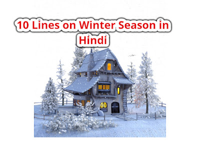 10 Lines on Winter Season in Hindi