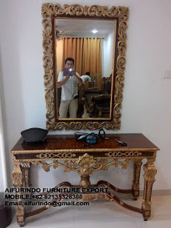 CLASSIC CONSOLE TABLE FURNITURE,ANTIQUE MAHOGANY CONSOLE TABLE REPRODUCTION,WHITE FRENCH CONSOLE TABLE FURNITURE,CLASSIC GOLD AND SILVER LEAF FURNITURE,CODE  39INDONESIA FURNITURE EXPORTER-INTERIOR CLASSIC FURNITURE INDONESIA-FRENCH CLASSIC FURNITURE-ITALIAN FURNITURE