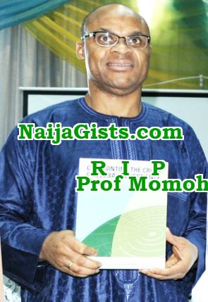 inec dg professor abubakar momoh is dead