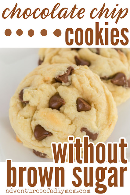 chocolate chip cookie made without brown sugar