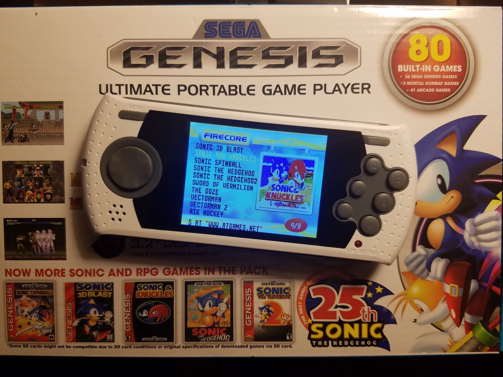 c66098dd Sega Genesis Ultimate Portable Game Player: Complete Compatibility list