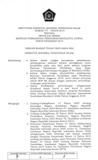 Juknis Bantuan Operasional Pendidikan (BOP) Raudlatul Athfal 2019