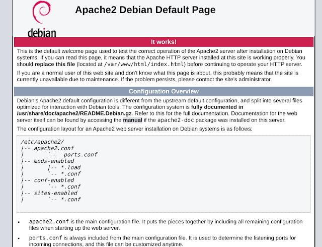 كيفية تثبيت خادم الويب Apache2 على debian ؟