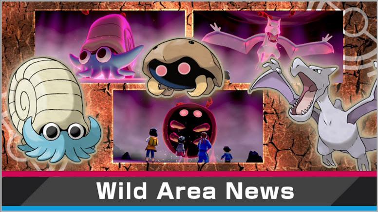Fossil Pokémon Wild Area News