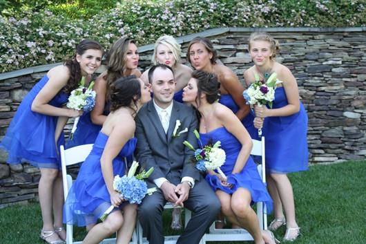 blue wedding photos ideas bridesmaids