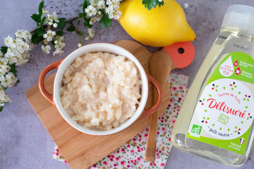 recette Riz au lait citron