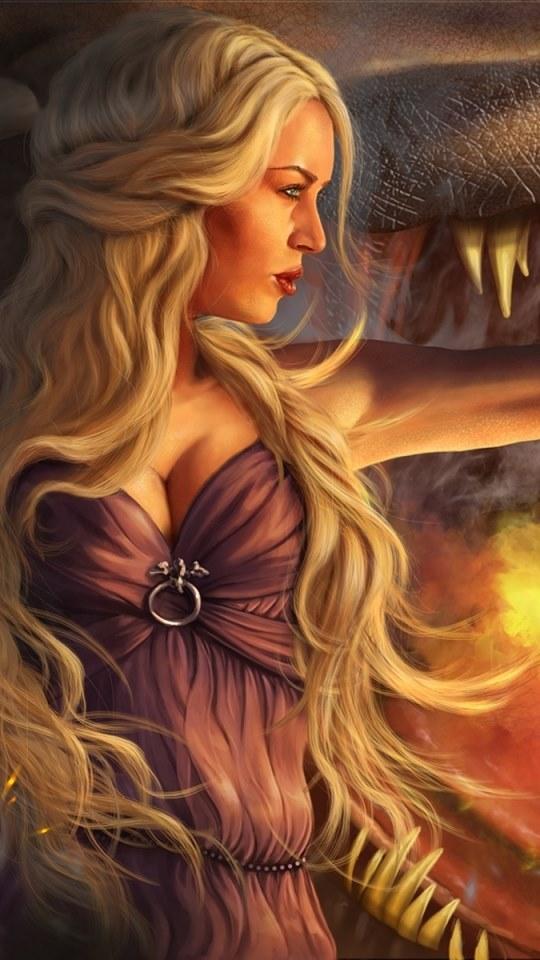 Desenho da Mulher Loira Linda 540x960