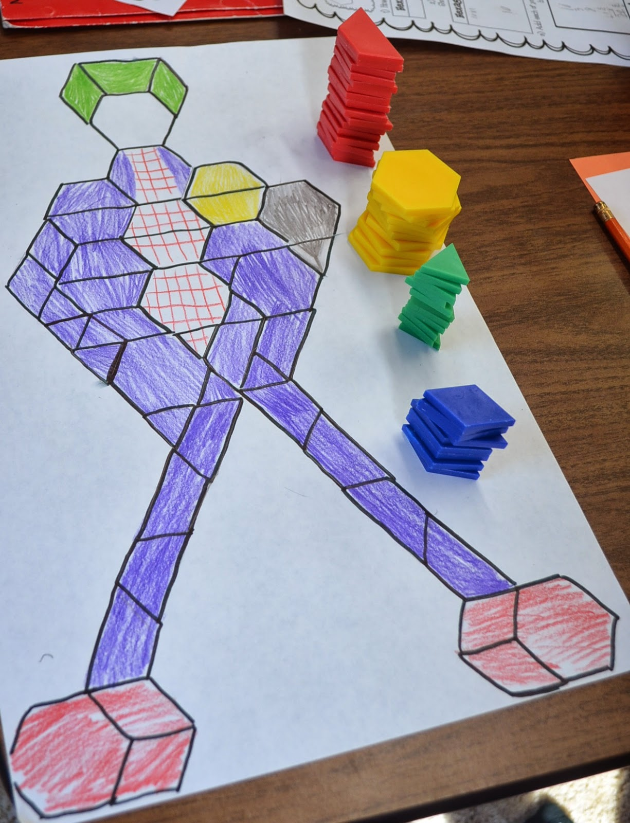 love2learn2day: Fractions Operations Review with Pattern Block Pictures