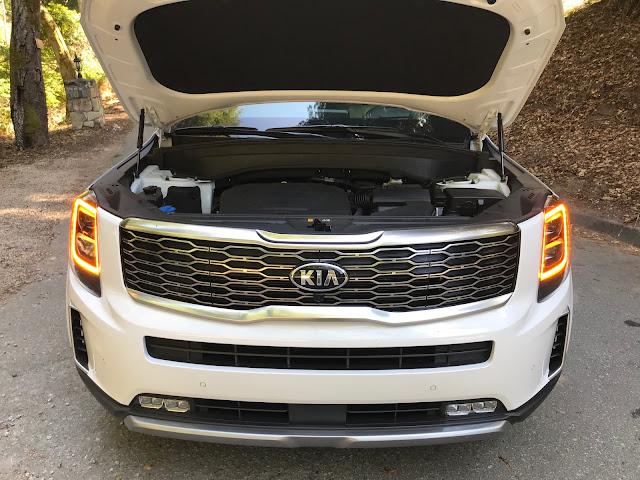 Underhood shot of 2020 Kia Telluride SX V6 AWD