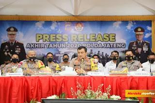 Tercatat Angka Kriminalitas Jawa tengah Turun Tahun 2020