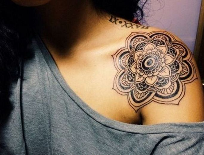 687eb9bf1c7dc 2. Many artists recommend giving tribal look to flower tattoos. If you want  a tribal flower tattoo then go for Aztec flower tattoo design which is way  ...