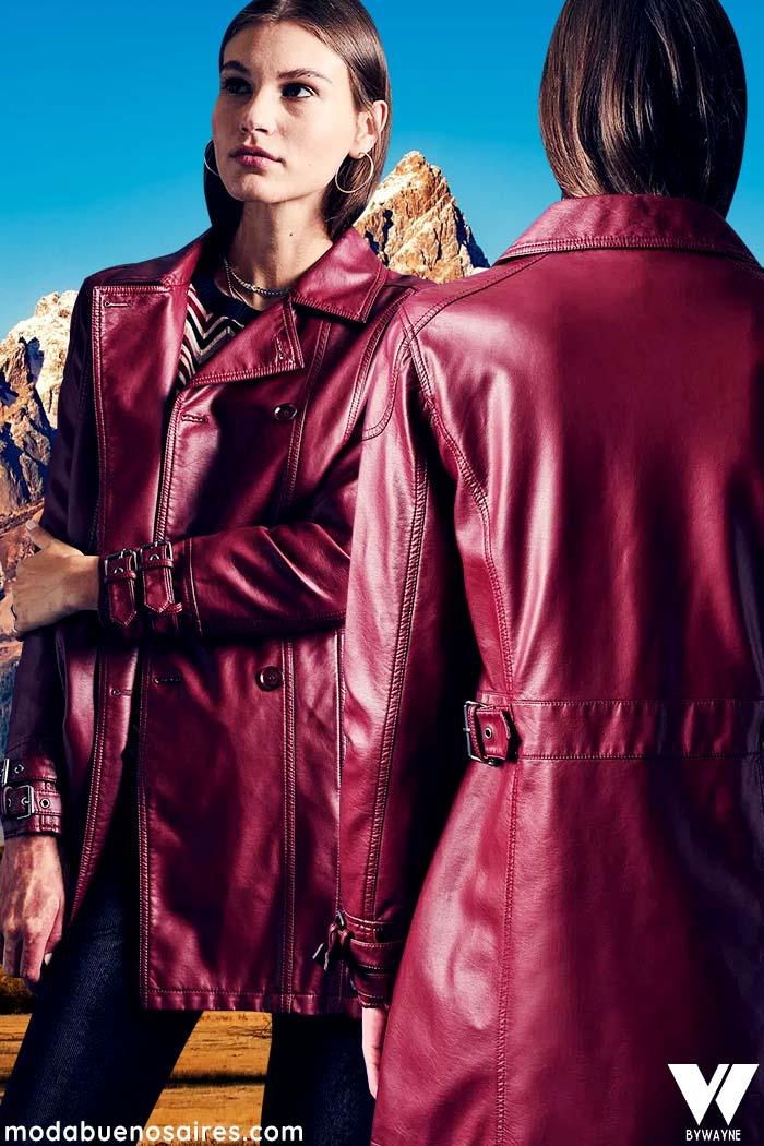 ropa de mujer invierno 2021 tapado de cuero