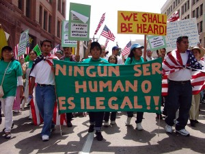 Illegal Immigrants Rally