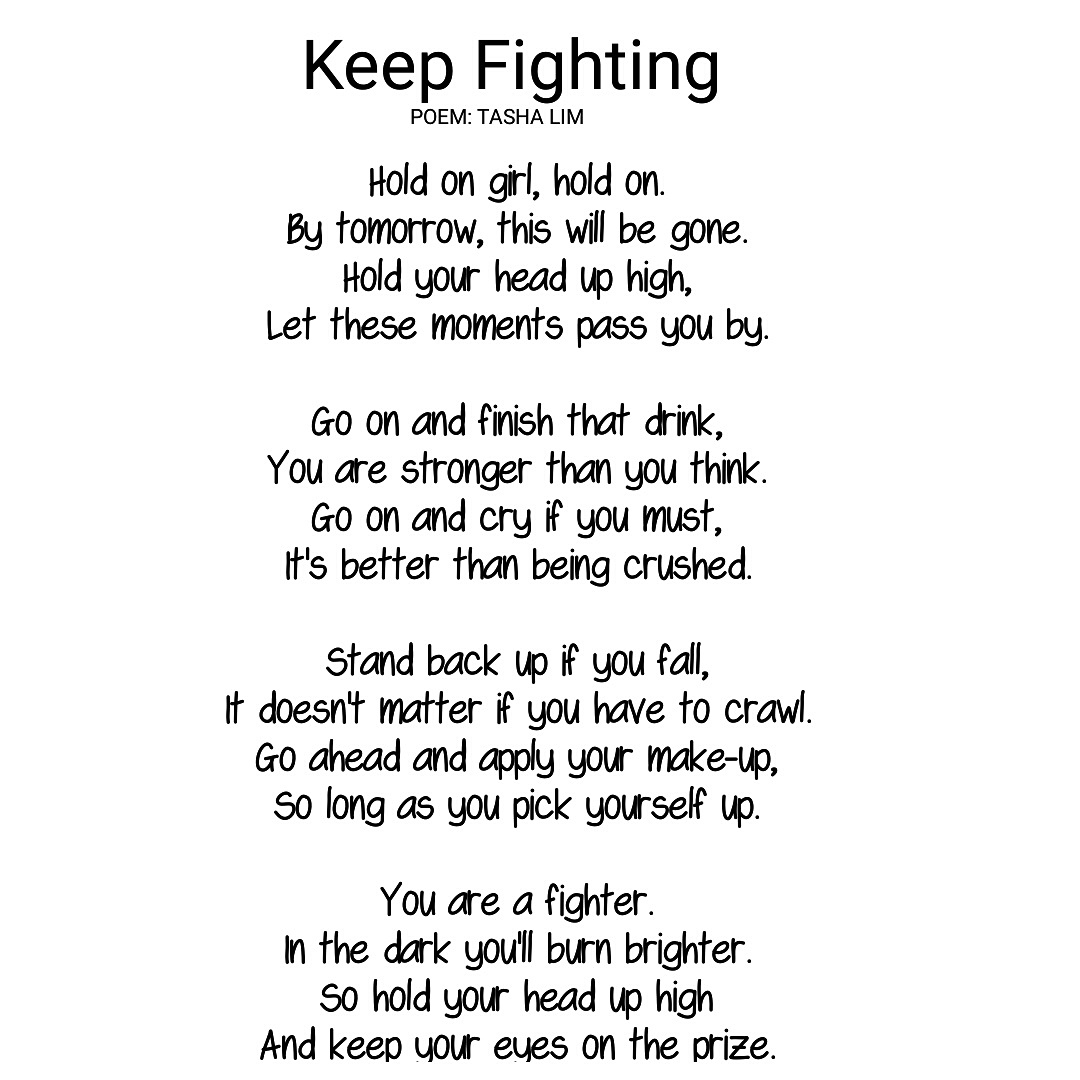 Poem 75 Keep Fighting