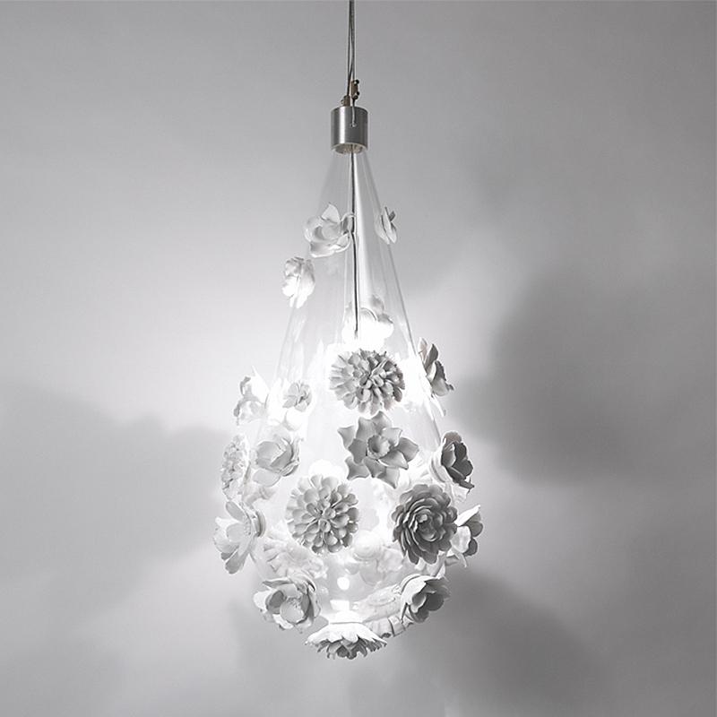 porcelain floral pendant lamp