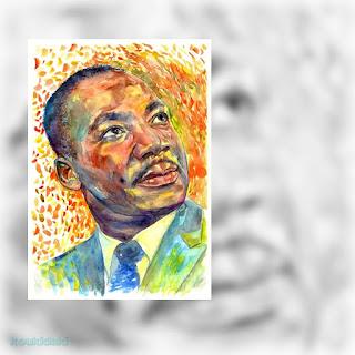 Πορτραίτο Martin Luther King από την Suzann Sines