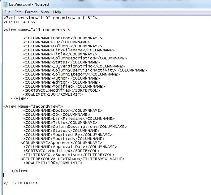 Create list views from xml using powershell | Tanveer Khan's