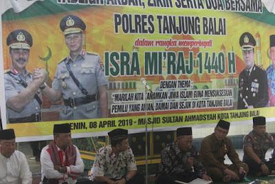 Kakankemenag Hadiri Tabligh Akbar Polres Tanjungbalai