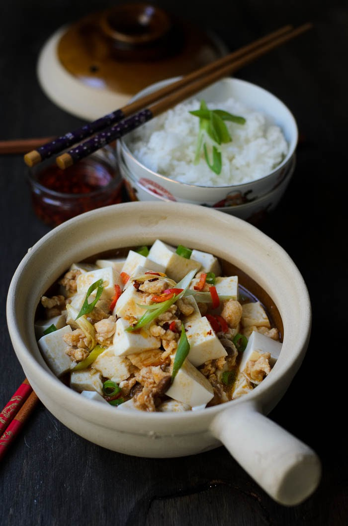 Mapo tofu with extra chilli oil