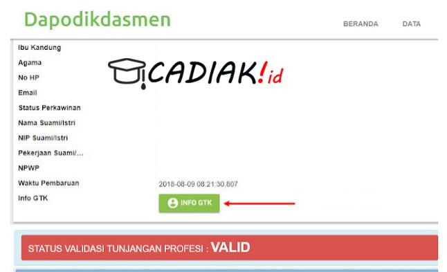 Tips Mengetahui Info GTK 2020 Tanpa Memakai Akun GTK Karna lupa password dan email
