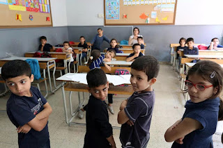 Syrian refugee children in Lebanon out of school