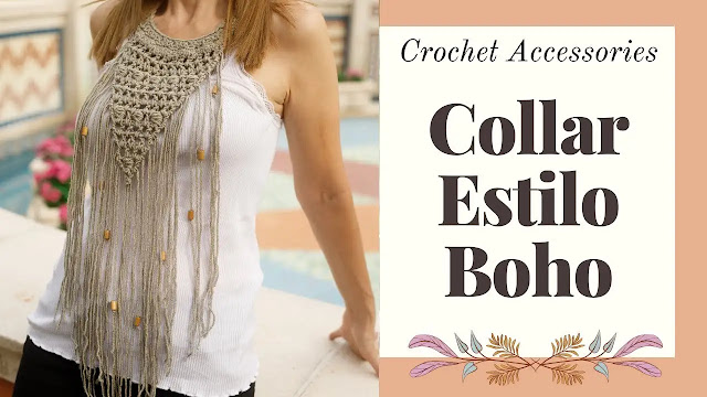Tutorial de Collar Boho Tejido a Crochet