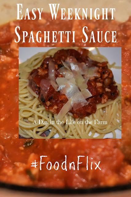 Easy Weeknight Spaghetti Sauce pin