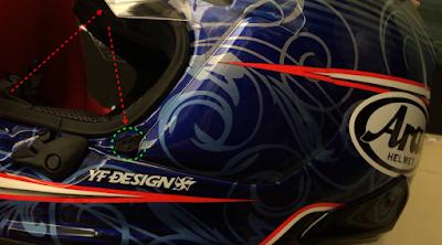 Cara Membuka Visor Helm Arai RX-7X dan Memasangnya Kembali