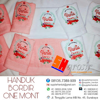 HANDUK BORDIR ONE MONTH