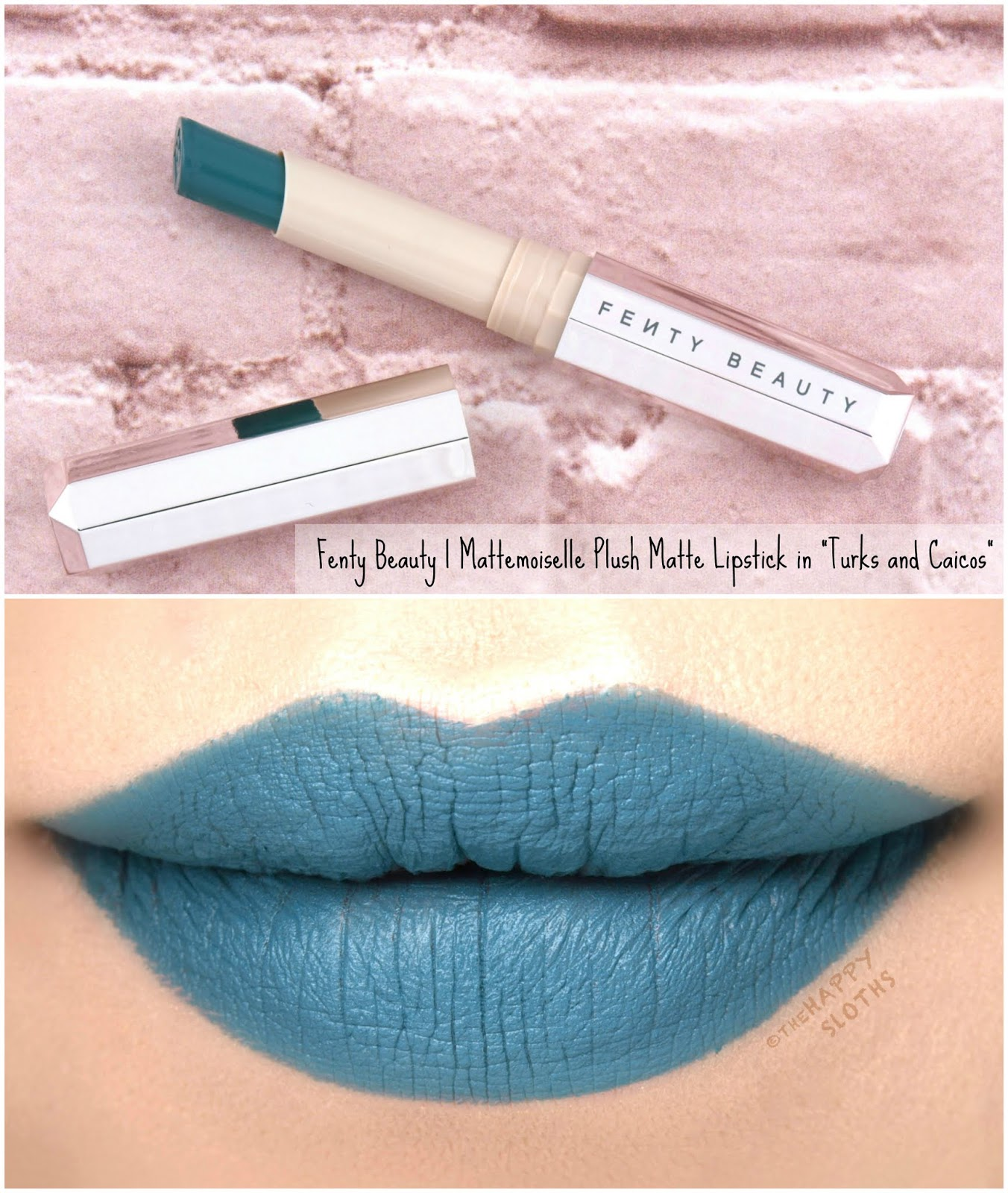 "Fenty Beauty by Rihanna | Mattemoiselle Plush Matte Lipstick in ""Turks and Caicos"": Review and Swatches"