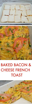 The easiest way to make French Toast in the oven - all stuffed with Bacon and Cheese !