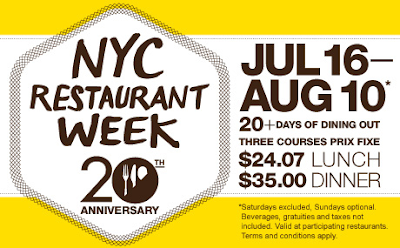 Best Restaurant Week Menus Nyc Summer