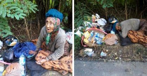 Astagfirullah, Nenek Ini Dibuang Anak Cucunya Di Tempat Sampah