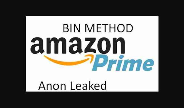 BIN METHOD AMAZON PRIME