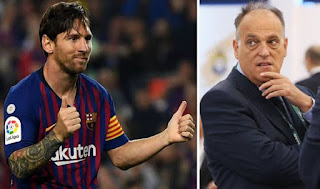 'I love him, how could I go to war with Lionel Messi?' - La Liga Chief says he's glad that Messi decided to stay at Barcelona