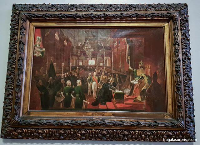 """Jean-Baptiste Debret - """"Estudo para Sagração de Dom Pedro I"""", Museu Nacional de Belas Artes"""