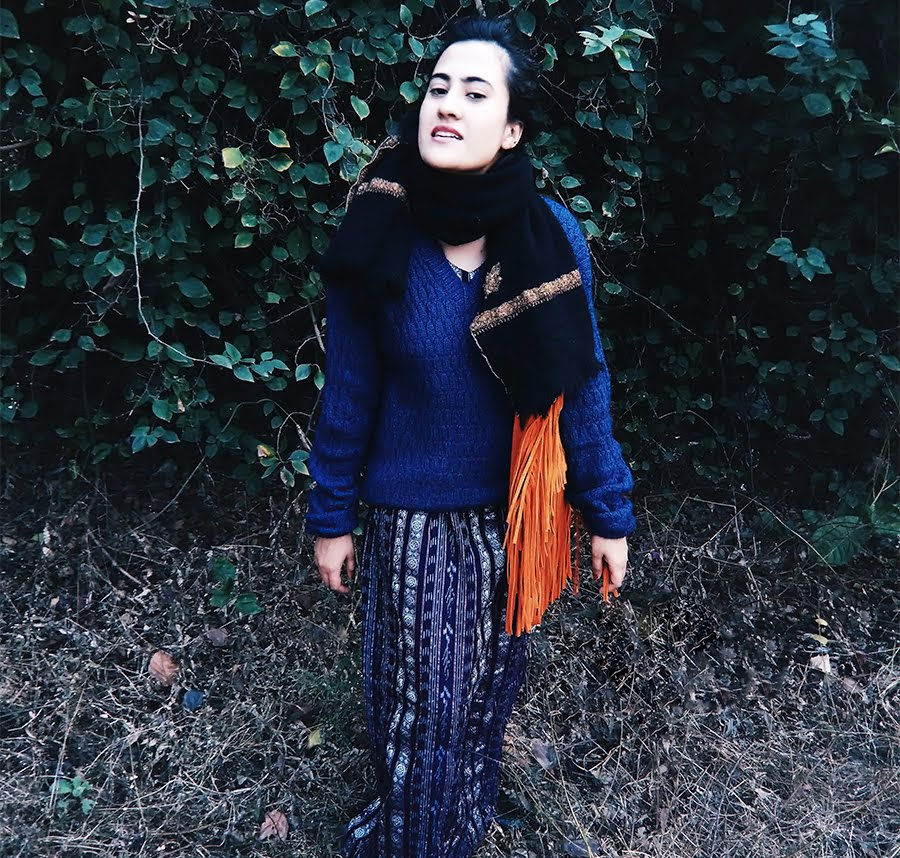 vintage blue sweater, personal style, blog