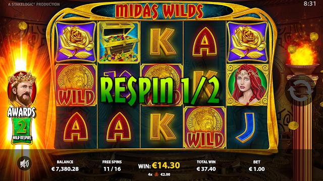 Midas Wilds - Wilds Respin - Reflex Gaming