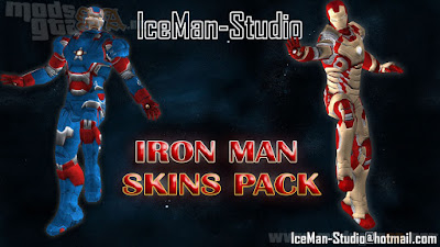Pack de Skins do Iron Man