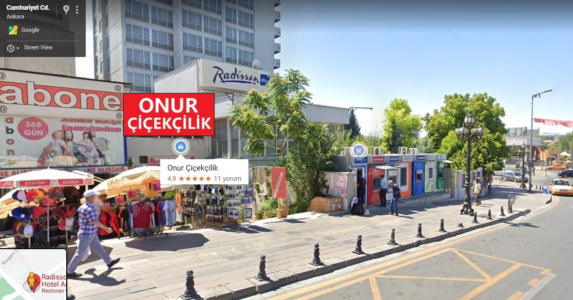 Ankara Ulus Onur Çiçekçilik Nerede?