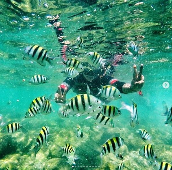 Snorkeling di Pantai Nglambor Gunung Kidul