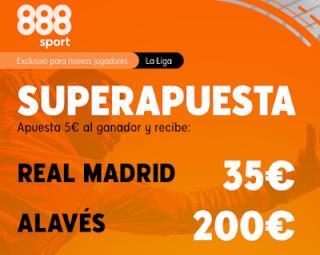 888sport Superapuesta Liga Real Madrid vs Alaves 10 julio 2020