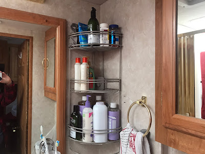 New Bathroom Corner Shelf - the 'Beast'