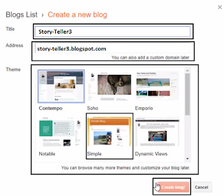 Blogger Tutorial OR Notes in Hindi,Create a Blog, Blogger Note in hindi, Blogg kya hain