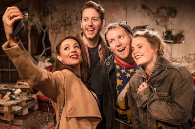 Puccini: La Boheme - Honey Rouhani, Matthew Palmer, Matthew Kimble, Lizzie Holmes - Trafalgar Studios (Photo Scott Rylander)