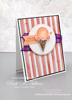 You're So Cool Card featuring the Sweet Ice Cream Bundle from Stampin' Up! Click here to learn more