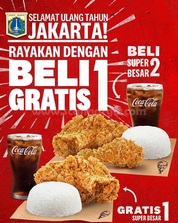 KFC Promo HUT Jakarta Buy 1 Get 1 Gratis Super Besar!