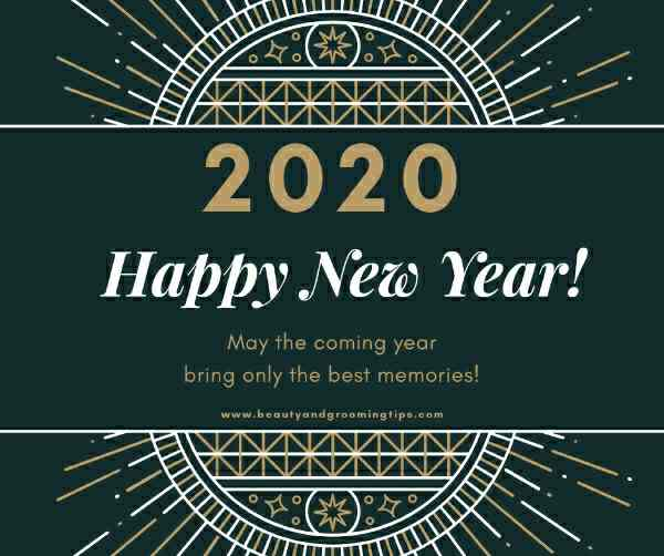 Happy New Year 2020 postcard