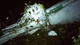 Plane crashes in Colombia with Brazil Chapecoense football team.
